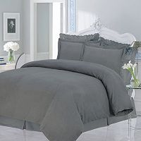 Luxury Flannel Solid 3-pc. Duvet Cover Set