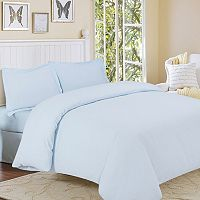Flannel Solid 3 pc Duvet Cover Set