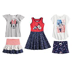 Disney & Jumping Beans Girls 4-10 Americana  Mix & Match Outfits