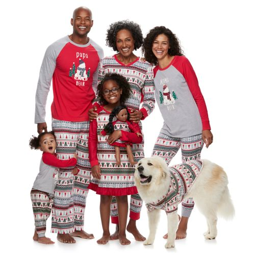 Matching Jammies For Your Families Polar Bear Fairisle Family Pajamas by Cuddl Duds