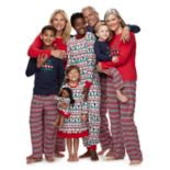 "Jammies For Your Families ""This Family Love Christmas"" Fairisle Matching Family Pajamas"