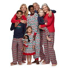 Jammies For Your Families 'This Family Love Christmas' Fairisle Matching Family Pajamas
