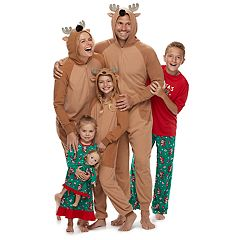Jammies For Your Families Santa & Reindeer Matching Family Pajamas