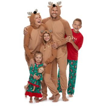 Jammies For Your Families Santa & Reindeer Matching Family Pajamas
