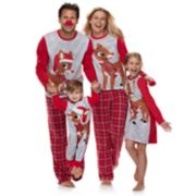 Jammies For Your Families Rudolph the Red-Nosed Reindeer Matching Family Pajamas