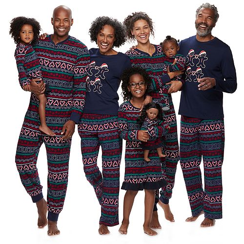 Jammies For Your Families Gingerbread Man Holiday Matching Pajamas