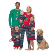 Jammies For Your Families Happy Holidays Fairisle Matching Family Pajamas