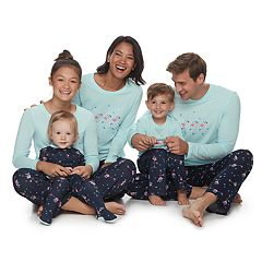 Jammies For Your Families Skating Flamingos Matching Family Pajamas