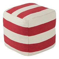 Artisan Weaver Striped Pouf