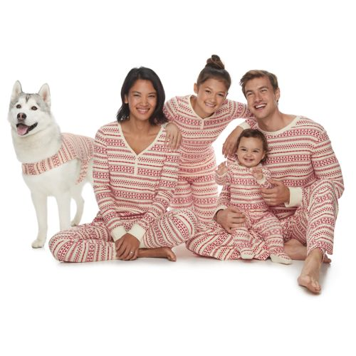 LC Lauren Conrad Jammies For Your Families Fairisle Matching Family Pajamas