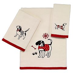 Avanti Happy Paw-lidays Bath Towel Collection