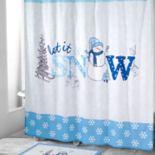 Avanti Let it Snow Shower Curtain Collection