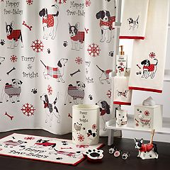Avanti Happy Paw-lidays Shower Curtain Collection