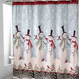 Avanti Tall Snowmen Shower Curtain Collection