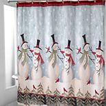 Avanti Tall Snowmen Shower Curtain Collection