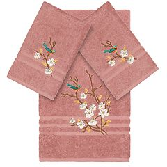 Linum Home Textiles Turkish Cotton Spring Time Embellished Bath Towel Collection