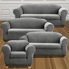 Sure Fit Stretch Madison Stripe Slipcover Collection