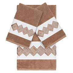Linum Home Textiles Turkish Cotton Noah Embellished Bath Towel Collection