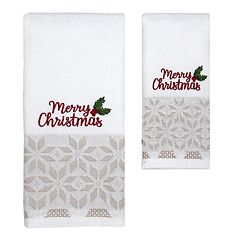 St. Nicholas Square® Christmas Traditions Merry Christmas Bath Towel Collection