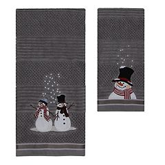 St. Nicholas Square® Christmas Traditions Snowman Bath Towel