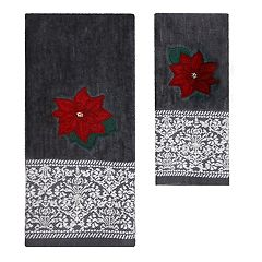 St. Nicholas Square® Christmas Traditions Poinsettia Bath Towel Collection