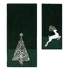 St. Nicholas Square® Christmas Traditions Tree Bath Towel Collection