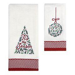 St. Nicholas Square® Christmas Traditions Greenery Trim Bath Towel Collection