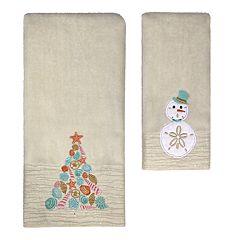 St. Nicholas Square® Christmas Traditions Beach Tree Bath Towel Collection