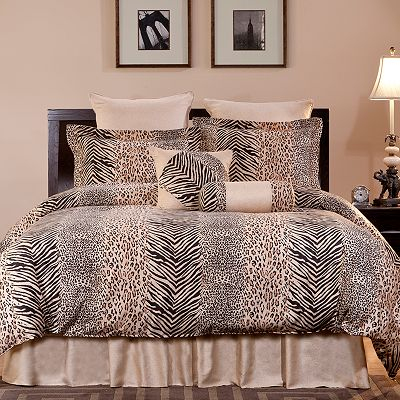 Pointehaven Urban Safari 8-pc. Comforter Set