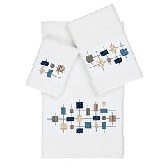 Linum Home Textiles Turkish Cotton Khloe Embellished Bath Towel Collection