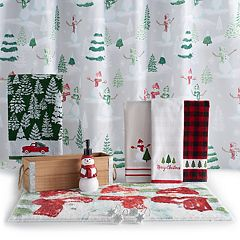 St. Nicholas Square® Farmhouse Holiday Scenic Shower Curtain Collection