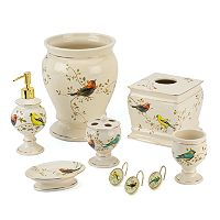 Avanti Gilded Birds Bathroom Accessories Collection