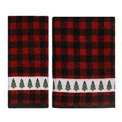 St. Nicholas Square® Farmhouse Plaid Tree Bath Towel Collection
