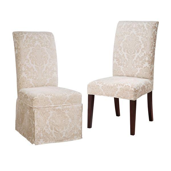 Kohls Powell Chenille Fleur De Lis Dining Chair