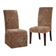 Chenille Paisley Dining Chair Slipcovers