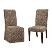Chenille Leaves Dining Chair Slipcovers