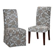 Chenille Flowers Dining Chair Slipcovers