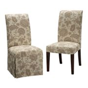 Chenille Floral Dining Chair Slipcovers
