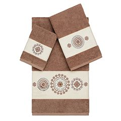 Linum Home Textiles Turkish Cotton Isabelle Embellished Bath Towel Collection