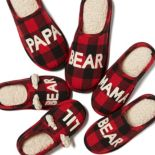 Dearfoams Bear Family Frenzy Slipper Collection