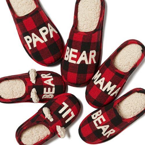 a51aab4aabb Dearfoams Bear Family Frenzy Slipper Collection