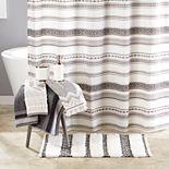 Saturday Knight, Ltd. Geo Stripe Shower Curtain Collection