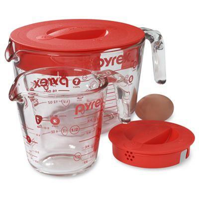 pyrex prepware 4 cup measuring cup lid oven microwave dishwasher freezer safe. Black Bedroom Furniture Sets. Home Design Ideas