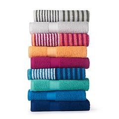 The Big One® Solid/Stripe Bath Towel Collection
