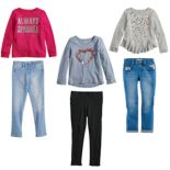 Girls 4-12 SONOMA Goods for Life? Pink Heart Mix & Match Outfits