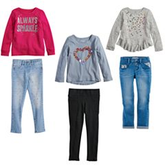 Girls 4-12 SONOMA Goods for Life™ Pink Heart Mix & Match Outfits
