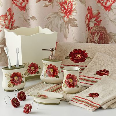 Croft and Barrow Emily Floral Bath Accessories