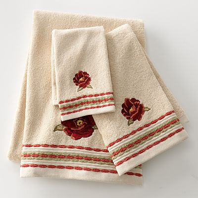 Croft and Barrow Emily Floral Bath Towels