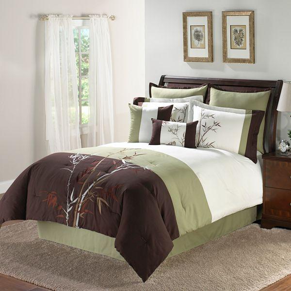 kohls bamboosa 8 pc leaf comforter set questions answers