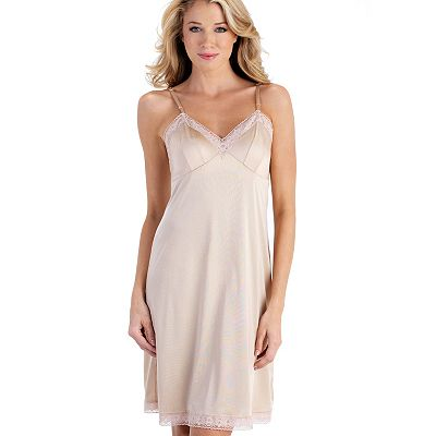 Vanity Fair Rosette Lace-Trim Full Slip